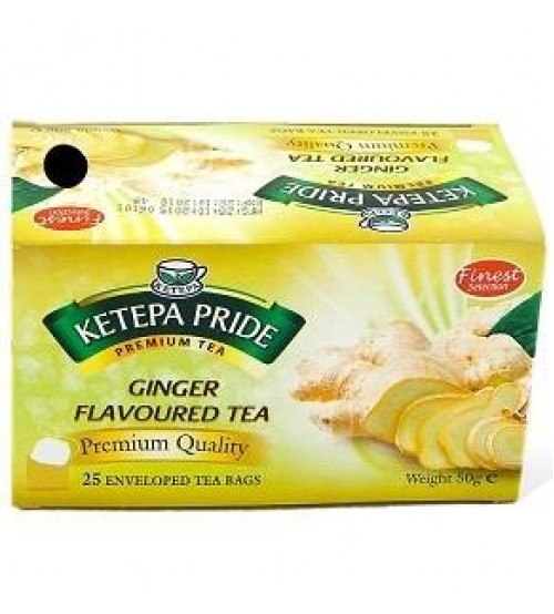Ketepa Pride Ginger Flavour Tea 50g 25 Satchets