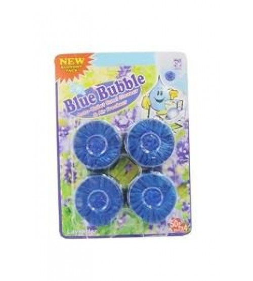 Blue Bubble Lavender Toilet Cleaner 4 Pieces