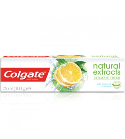 Colgate Ultimate Fresh Toothpaste with Lemon Oil & Aloe Extracts 100g