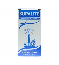 Supalite Tropical White Candles 8 Pack