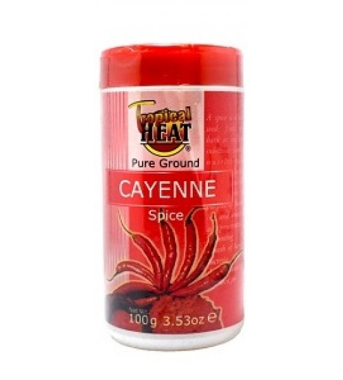 Tropical Heat Pure Ground Cayenne Pepper Jar 100g