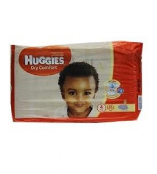 Huggies Dry Comfort Diapers Size 4 8-14Kg 34 Pieces