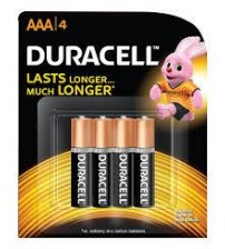 Duracell Battery AAA 4 Pieces