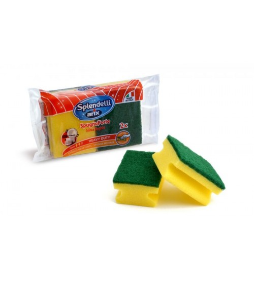 Splendelli Scrubbing Pad with Sponge 2 Pieces