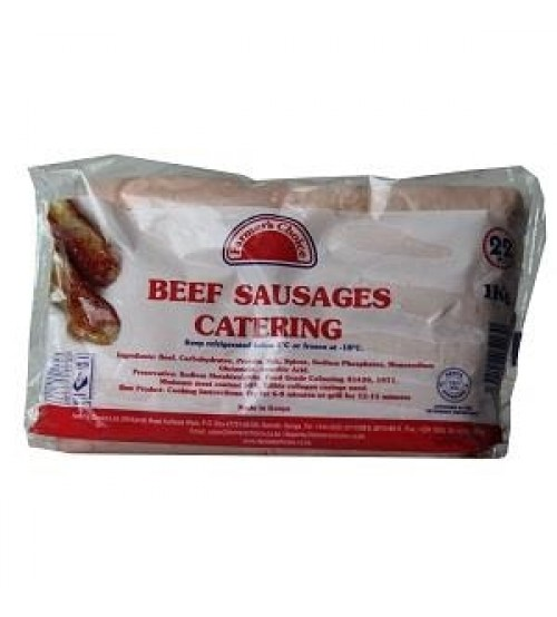 Farmer's Choice Beef Sausages 22 Pieces 1Kg (Catering)