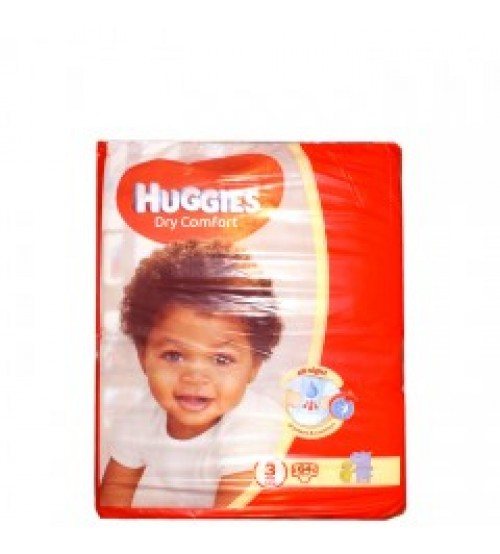 Huggies Dry Comfort Diapers Size 3 5-9Kg 64 Pieces