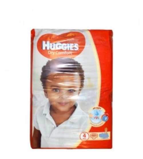 Huggies Dry Comfort Diapers Size 4 8-14Kg 60 Pieces