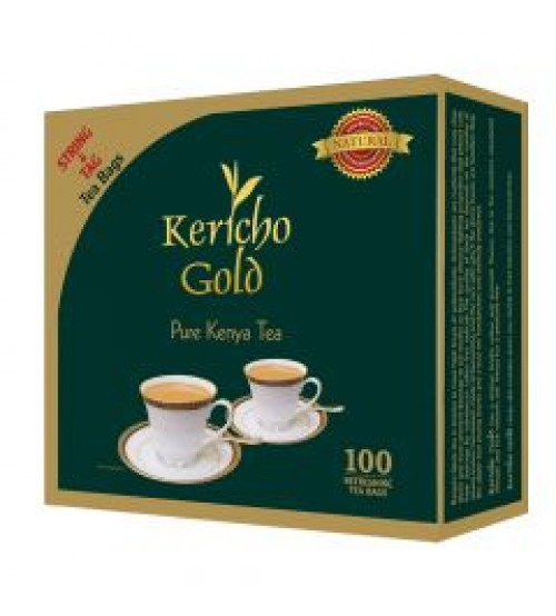 Kericho Gold Pure Kenya Tea Bags (String & Tag) 100 Pieces