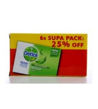 Dettol Antibacterial Soap Herbal 90g 6 Pieces Supa Pack