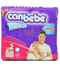 Canbebe Comfort Dry Size 2 3-6kg 72 pieces