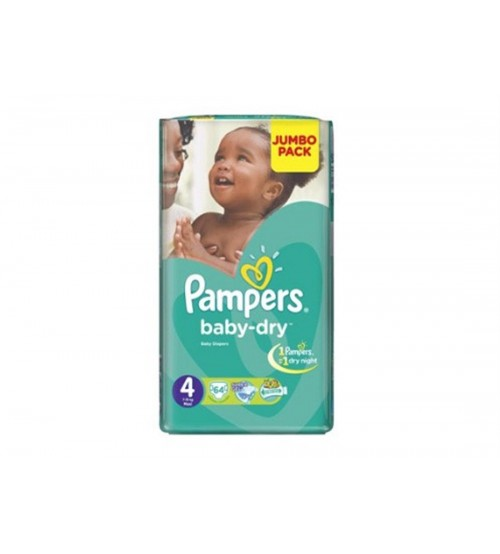 Pampers Baby Dry Diapers Size 4 Jumbo Maxi 7-18kg 64s