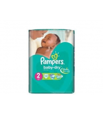 Pampers Baby Dry Diapers Size 2 Mini 3-6Kg 40s
