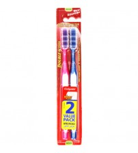 Colgate Double Action Toothbrushes Medium 2 Pack