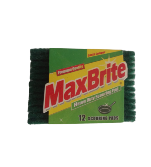 MaxBrite Scouring Pads 12 pieces