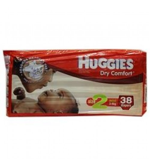 Huggies Dry Comfort Diapers Size 2 3-6Kg 38 Pieces