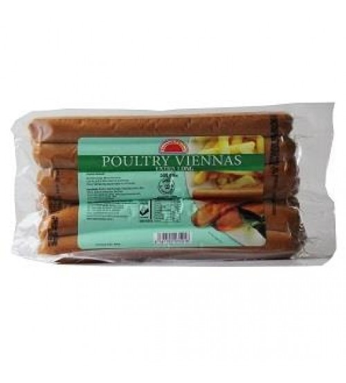 Farmer's Choice Poultry Viennas 500g (Extra Long)