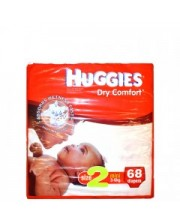Huggies Dry Comfort Diapers  Size 2 3-4Kg 68 Pieces