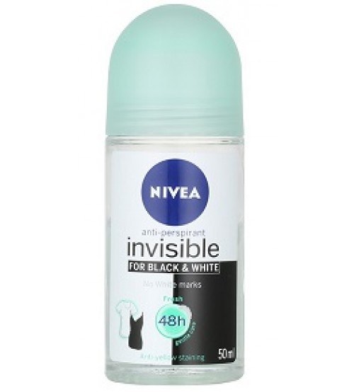 Nivea Antiperspirant Roll  On Deo Invisible Black 50ml