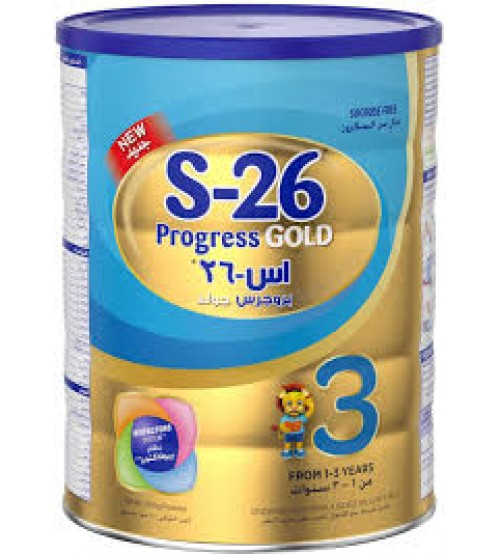 S-26 Progress Gold Stage 3, 1-3 Years Premium Baby Milk Powder 400g
