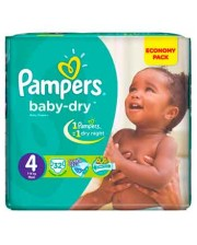 Pampers Baby Dry Diapers Size 4 Maxi 7-18Kg 32s