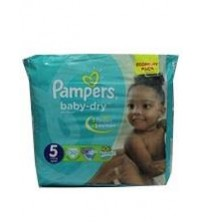 Pampers Baby Dry Diapers Size 5 Junior 11-25 Kg 30s