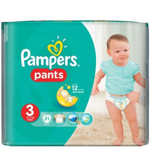 Pampers Baby Diaper Pants Size 3 Midi 31s