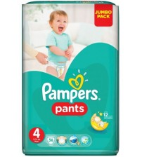 Pampers Baby Diaper Pants Size 4  Jumbo Maxi 56s